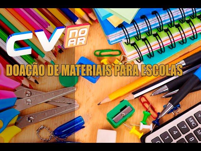 DOAÇÃO DE MATERIAIS PARA ESCOLAS