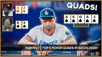 TOP 5 POKER QUADS HANDS OF 2020! (FOUR OF A KIND)