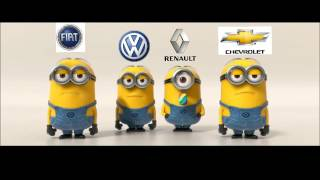 Fiat & Volkswagen VS Renault & Chevrolet - Minions Style #3