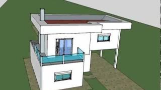 casa moderna placa
