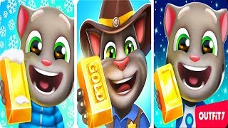 Talking Tom Gold Run Android Gameplay - 3 Talking Tom Games For Kids