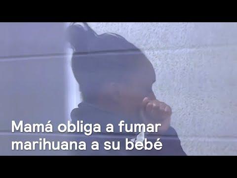 Detienen a mujer por hacer fumar marihuana a su bebé