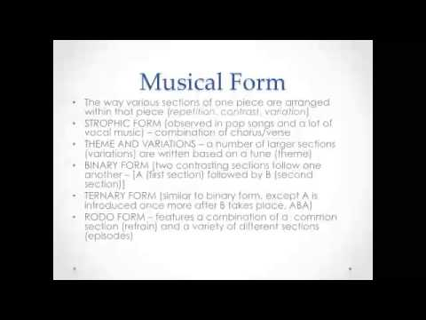 Lecture on Musical Texture and Form