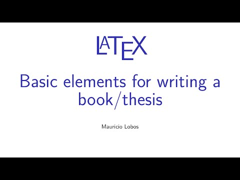 Latex thesis writing tutorial