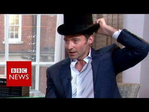 Hugh Jackman's novelty top hat trick - BBC News