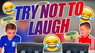 HILARIOUS TRY NOT TO LAUGH CHALLENGE   LOSER GETS A FORFEIT! 😂😂😂