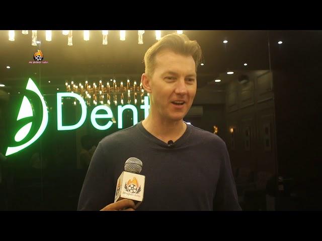 Former Int. Cricketer   Commentator Brett Lee   Dr. Shantanu Jaradi, Karishma Jaradi Dentzz Dental