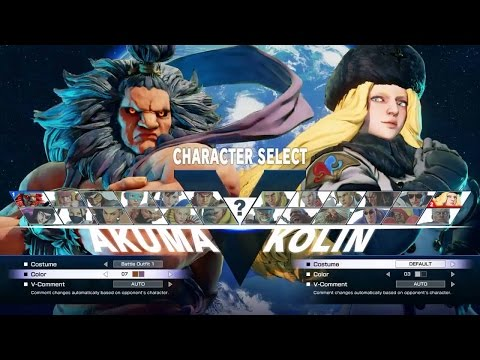 Street Fighter 5 - Kolin Hype Gameplay Matches