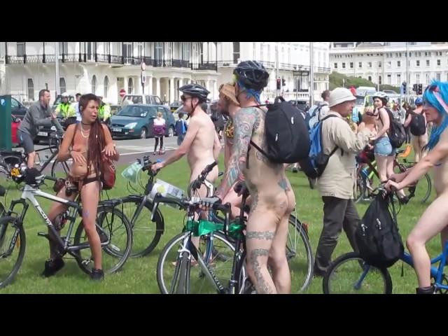 World Naked Bike Ride Brighton WNBR 2013   A Rider's View