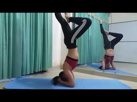 head stand yoga pose  home style yoga  youtube