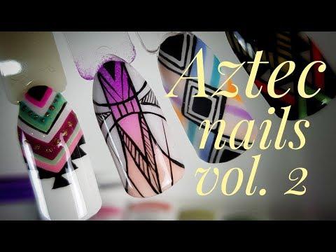 💅💅 Aztec Nails 💅💅 :: Azteckie zdobienie #2 :: Nailart by Natalia