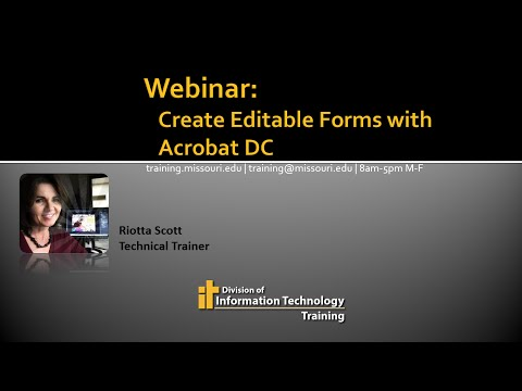 Fillable Forms: From Word To Acrobat DC