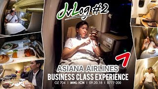ASIANA AIRLINES BUSINESS CLASS MANILA-INCHEON I JvLog #2