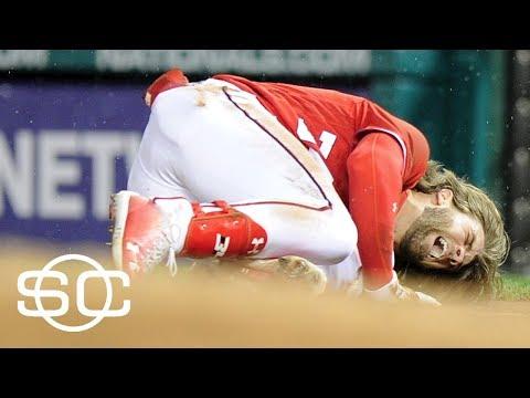 Bryce Harper Out Indefinitely With Bone Bruise In Knee | SportsCenter | ESPN