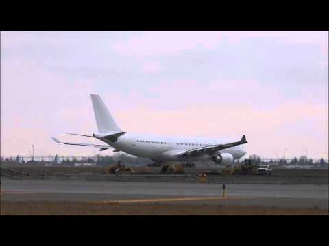 Hong Kong Jet A-330 (VP-CBE) leaves for Milan from Calgary International Airport