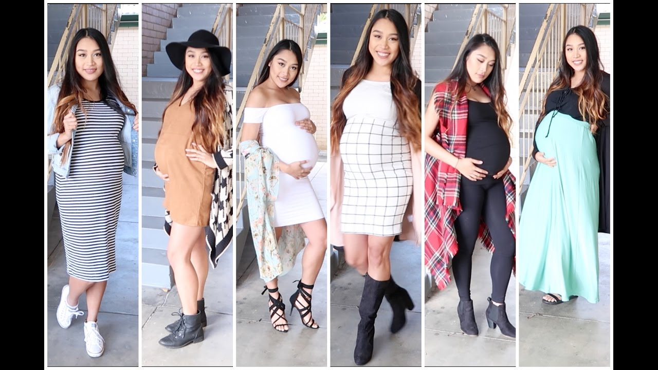 a16ddde49d3ed Outfits for Pregnancy without buying Maternity Clothes - YouTube