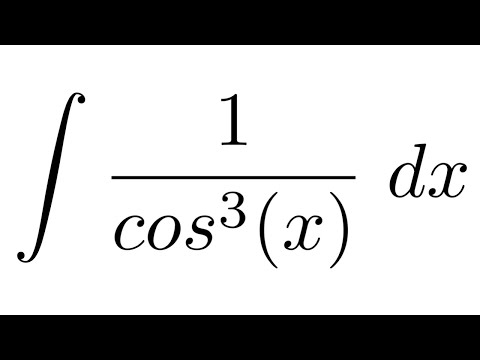 Integral of 1/cos^3(x) (by parts)