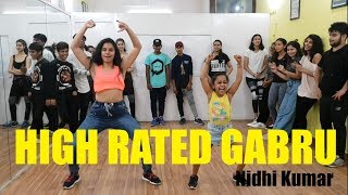 High Rated Gabru | Guru Randhawa | Nawabzaade | Bollywood Dance | Nidhi Kumar Choreography
