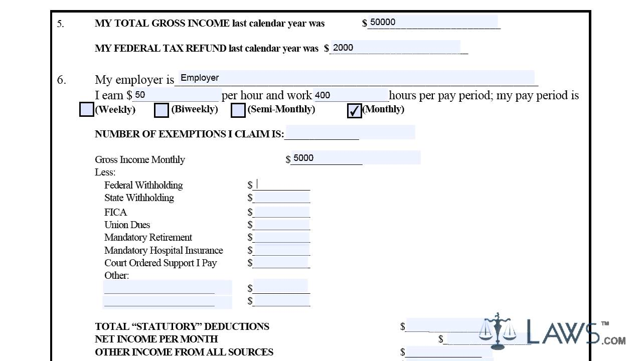 Income And Expense Form