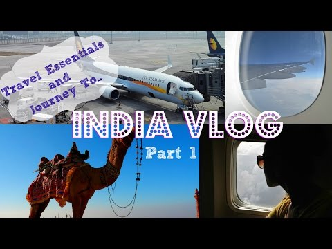 VLOG: My India Trip Part #1 Travel Tips How & What to pack for India Airport Plane Journey Take off