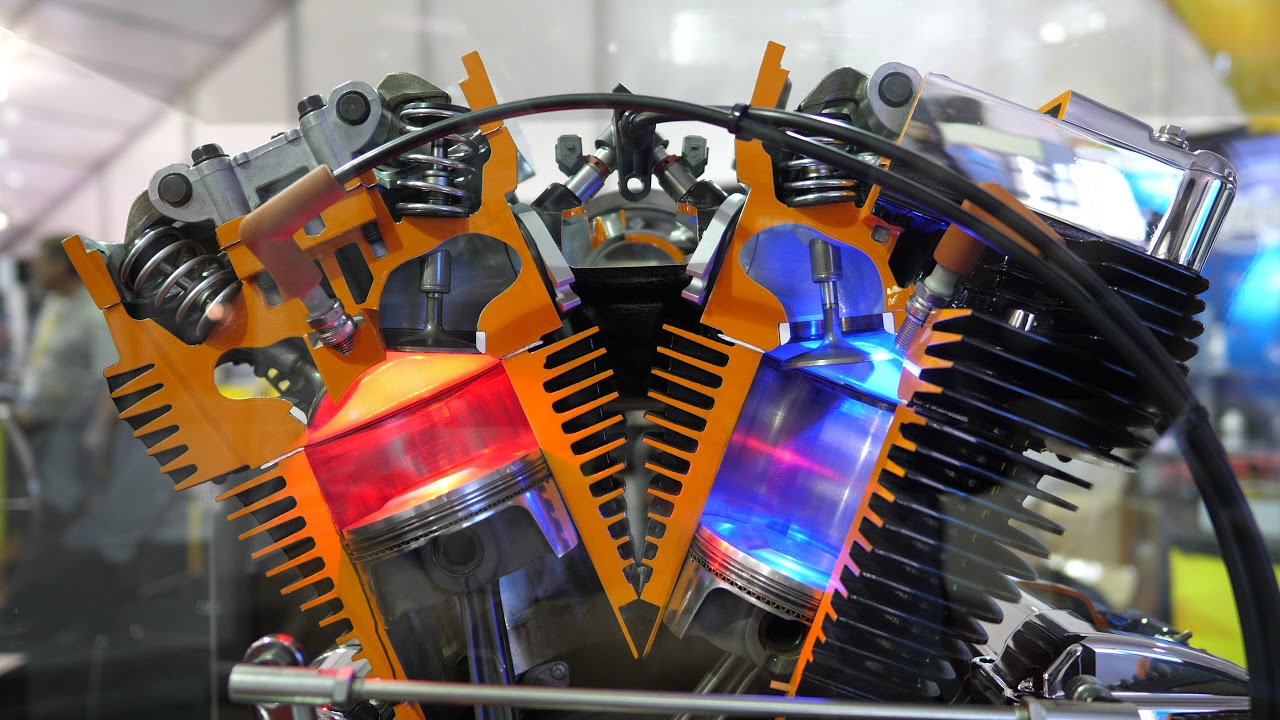 hight resolution of  harley vtwin engine