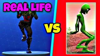 Zany Dance | Schrullig Tanz im Real Life! 👽 | Fortnite Battle Royale