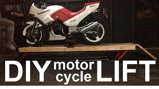 DIY MOTORCYCLE LIFT for $200 in 2 Minutes