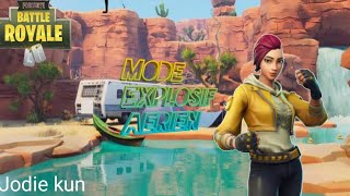 Fortnite Battle Royale: Cheeky Skin / Shade [Emote Pop Lock] Aerial Explosive Mode.