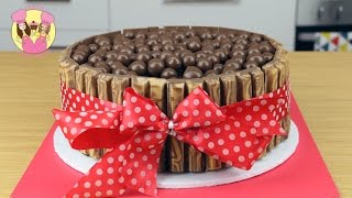 KIT-KAT MALTESER CHOCOLATE ICE CREAM CAKE! Birthday cake kids baking by Charli's Crafty Kitchen