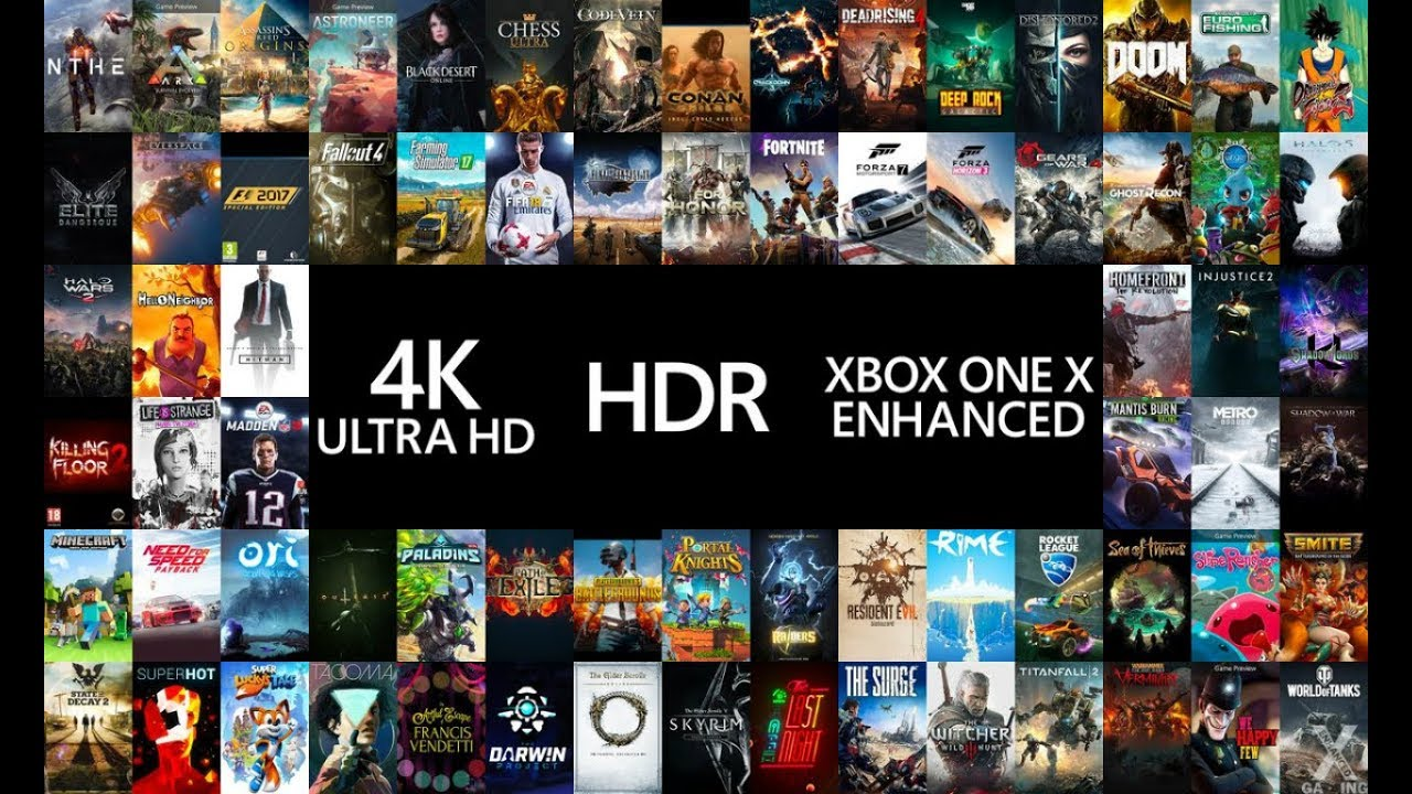official list of 110 games getting xbox one x enhanced. Black Bedroom Furniture Sets. Home Design Ideas