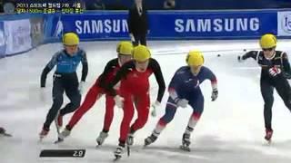 쇼트트랙 김동성 빨리가기 작전, 똑같은 작전 쓴 중국선수 (Short track, crazy speed Kim Dong-sung, and same strategy Chinese)