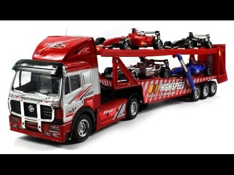 big toy trucks and trailers trucks toys for kids youtube. Black Bedroom Furniture Sets. Home Design Ideas