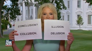 Kellyanne Conway defended Trump Jr.'s Russian lawyer meeting using show-and-tell cards