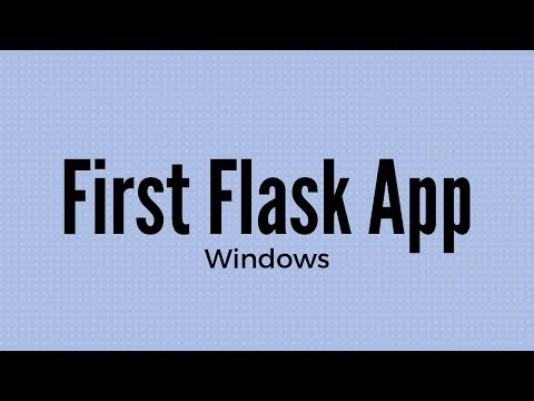 How to Install and Use Flask on Windows for Beginners (2019