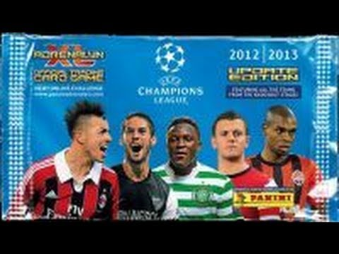 Opening BOOSTER BOX (50 packs) ADRENALYN XL CHAMPIONS LEAGUE UPDATE 2012-13 panini trading cards