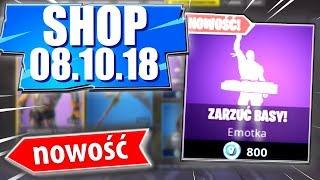 Sklep Fortnite 8.10.18   *Nowa emotka* Zarzuć basy! - (Daily Item shop October 8.10) Update