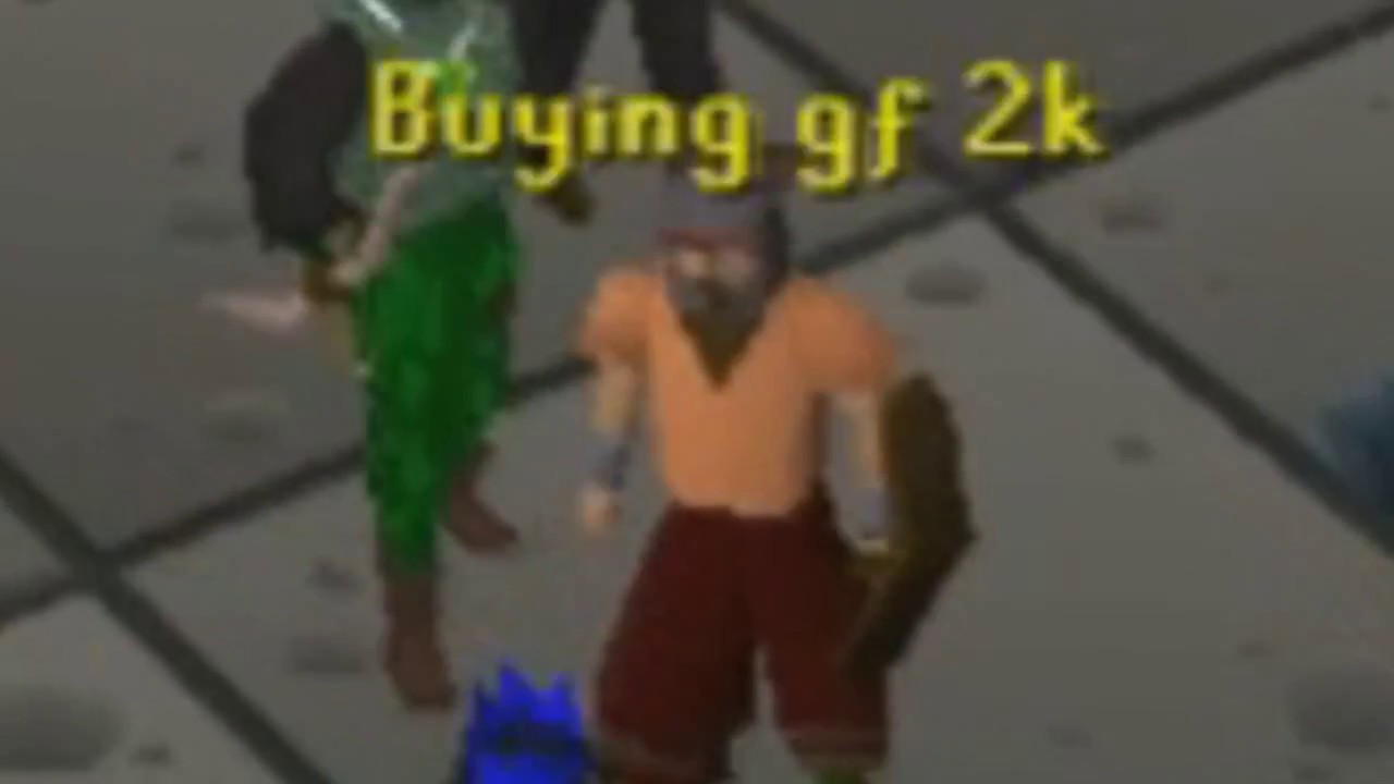 Runescape 07 Buying Gf 2k YouTube