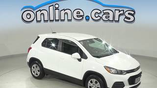 G10107NC Used 2017 Chevrolet Trax LS FWD 4D Sport Utility White Test Drive, Review, For Sale