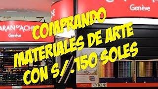 ¡COMPRANDO MATERIALES DE ARTE CON 150 SOLES!