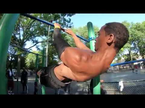 Park workout in Harlem - Marcus Garvey Park - NYC
