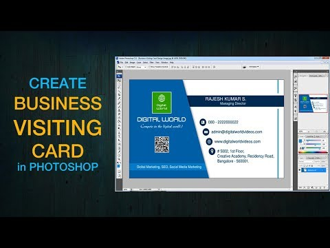 How to Create Business Card in Photoshop 7.0 / CS3 / CS5 / CS6 | Design Professional Visiting Card