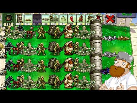 Plants vs  Zombies Metal Slug Mod Gameplay |