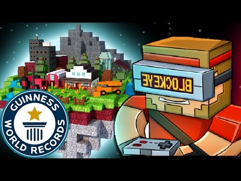 Pixel Gun 3D WORLD RECORD ATTEMPT - FASTEST TIME TO FINISH PIXELATED WORLD 12:72