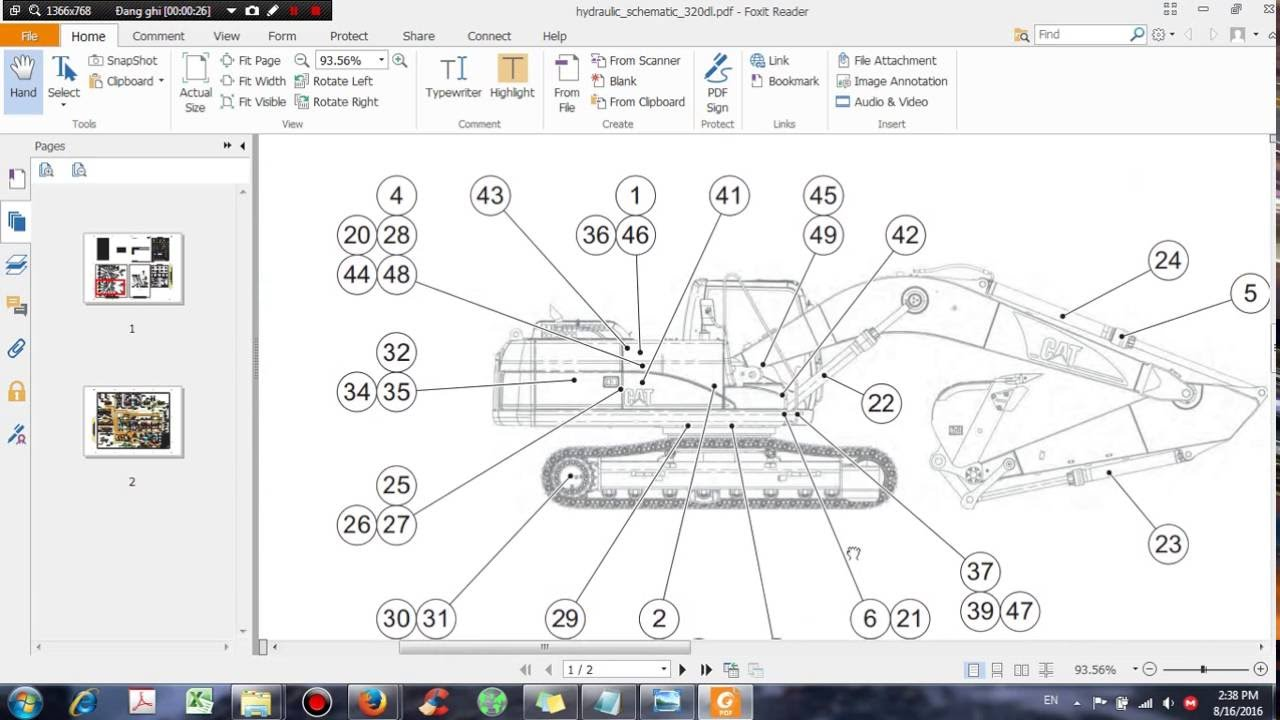 CAT 320D Excavator Hydraulic System Schematic  DHTauto