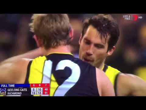 Last 41 seconds Richmond vs Geelong Second Qualifying Final 2017