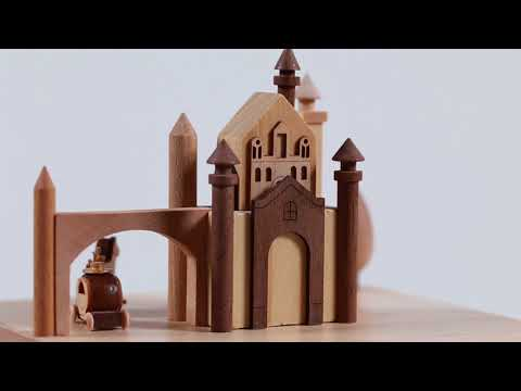 Castle & Carriage Wooden Music Box