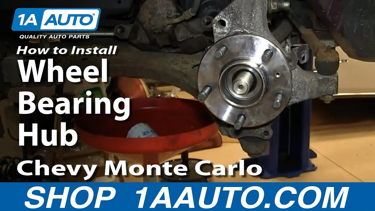 hight resolution of how to replace wheel bearing hub 00 05 chevy monte carlo