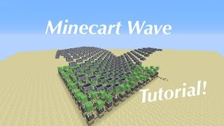 Minecraft How to build: 3D Minecart Wave