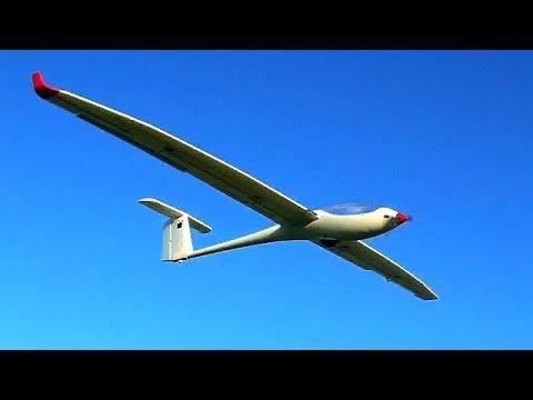 Volantex ASW28 2.5m motor glider first flights