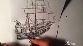 boat 3d drawing, laser engraving, speed, black&white